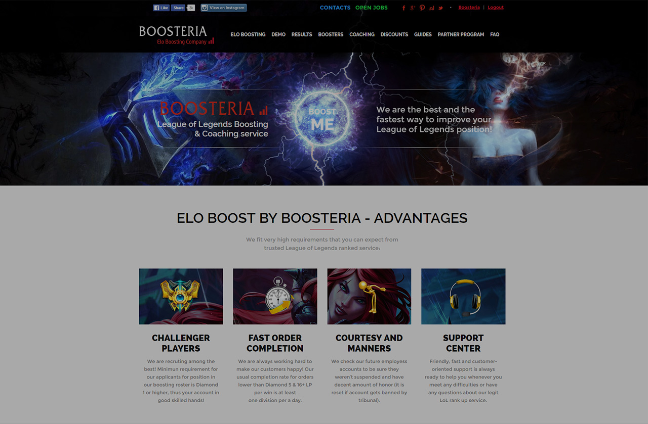 Advertisement / Guest Post: LoL Boost by Boosteria
